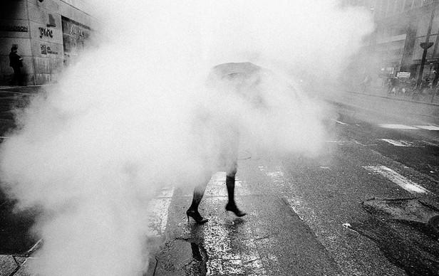 Umbrella Fog Lady