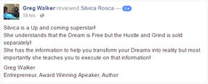 Greg Walker Entrepreneur Award Winning Speaker Author Silvica Rosca