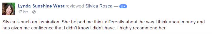 Lynda West Testimonial Silvica Rosca