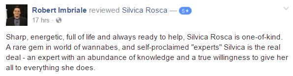 Robert Imbriale Testimonial Silvica Rosca