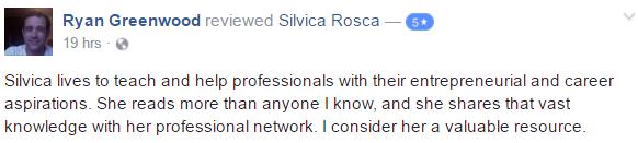 silvica rosca career coach be fearless
