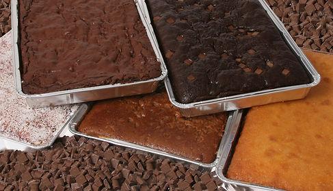 Sponge cake tray bake