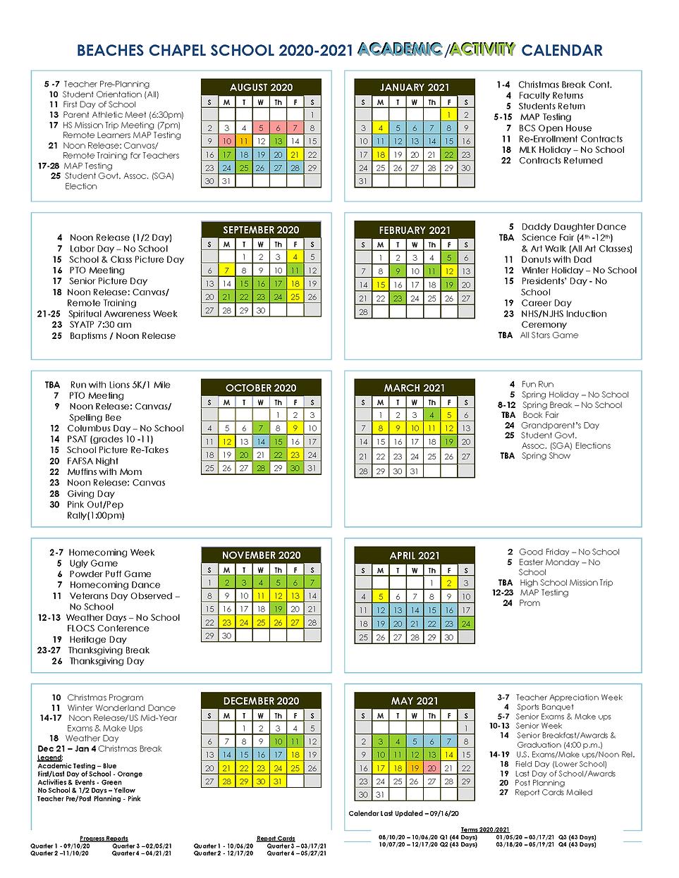 BCS 2020-21 9.16 updated Academic Activi