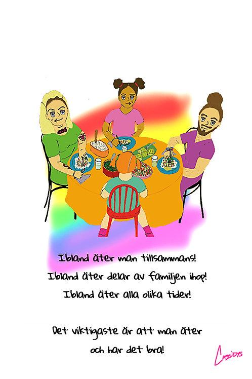 Astrid & Helmer-poster – Att äta i en familj