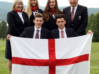 England's Lily May Humphreys, Annabell Fuller, Conor Gough and Barclay Brown are golf's European You