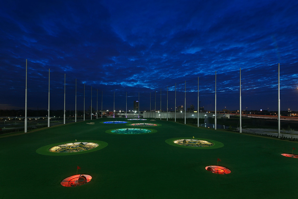 TopGolf range illuminated targets March 2014.JPG