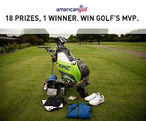 WIN THE M.V.P. AT AMERICAN GOLF – GOLF'S MOST VALUABLE PRIZE!