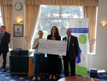 West Byfleet Golf Club splashes out almost £40,000 to help local charities