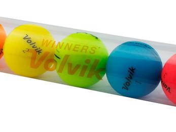 VOLVIK INTRODUCES RAINBOW GOLF BALL TUBES