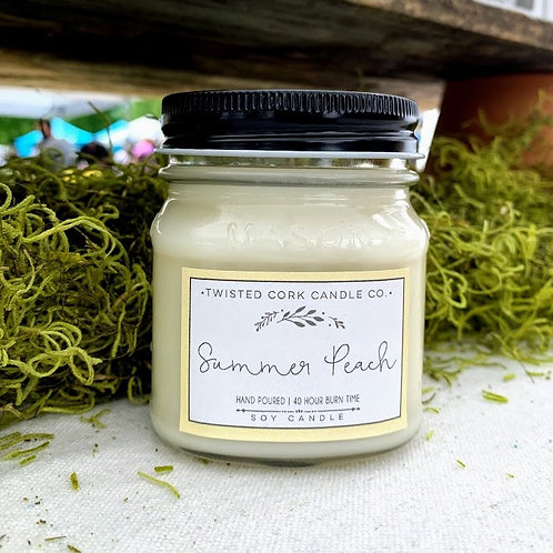 Summer Peach Mason Jar
