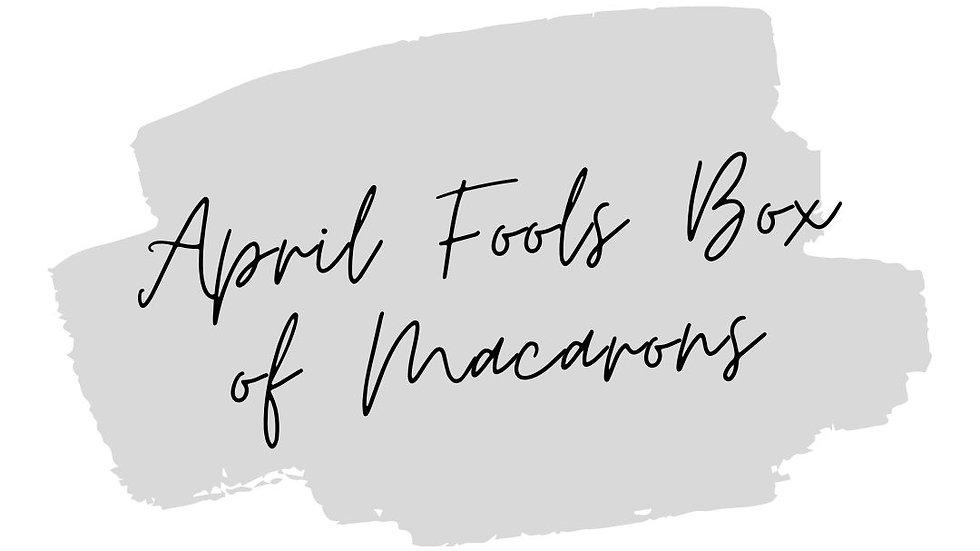 April Fools Day Macarons