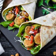 falafel in wrap or over salad