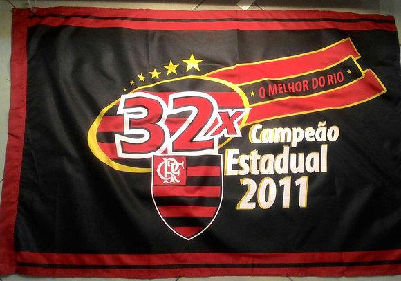 BANDEIRA 32X CAMPEÃO CARIOCA 2 PANOS (0,90 X 1,28)