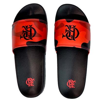 Chinelo Slide Camuflado Flamengo