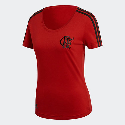Babylook 3 Stripes Flamengo