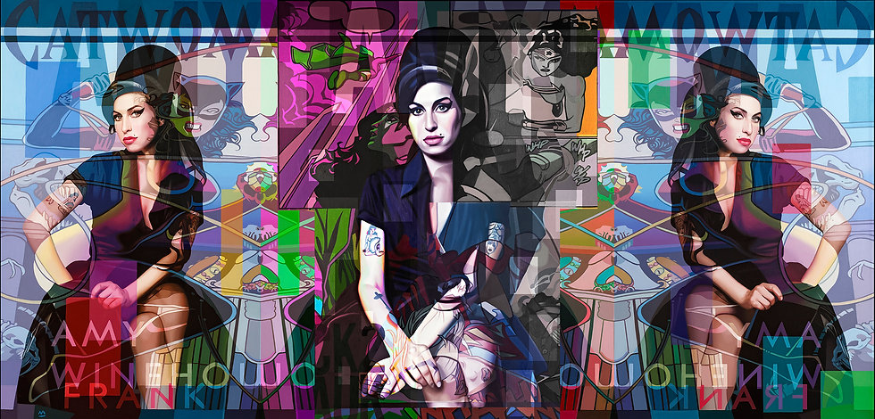 Amy Winehouse contemporary oil painting
