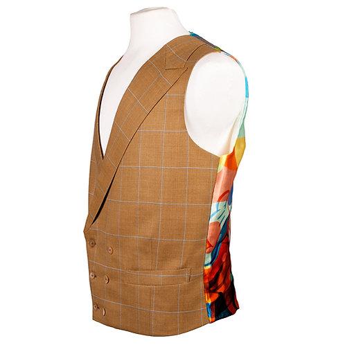 Silk printed Waistcoat