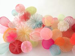 Warm color bubbles group 3