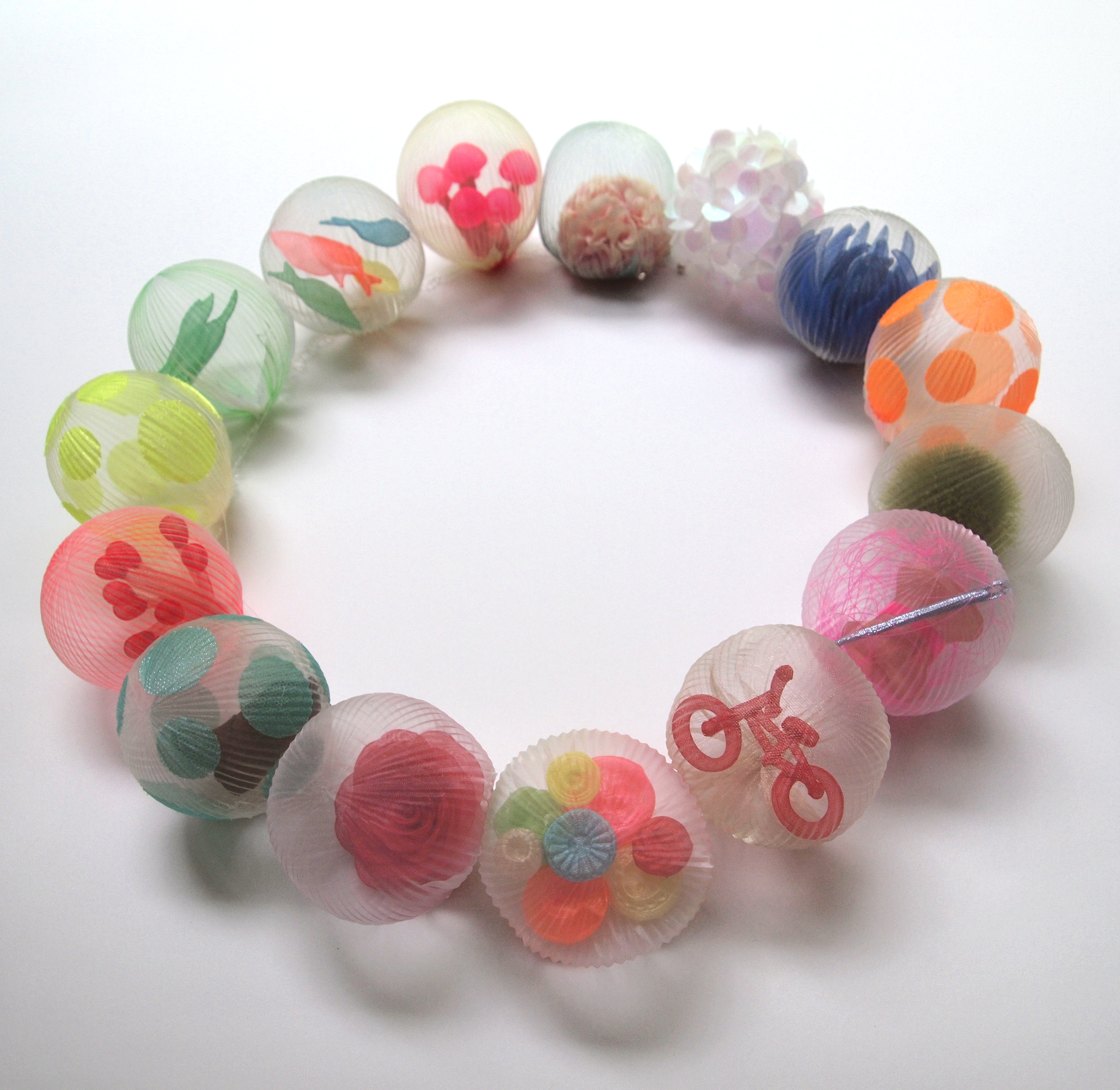 bubble necklace (single strand)