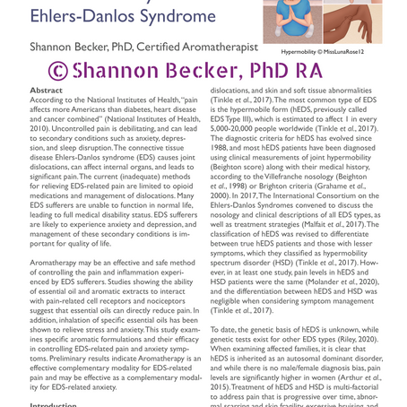 Aromatherapy for Ehlers-Danlos Syndrome related symptoms: a study