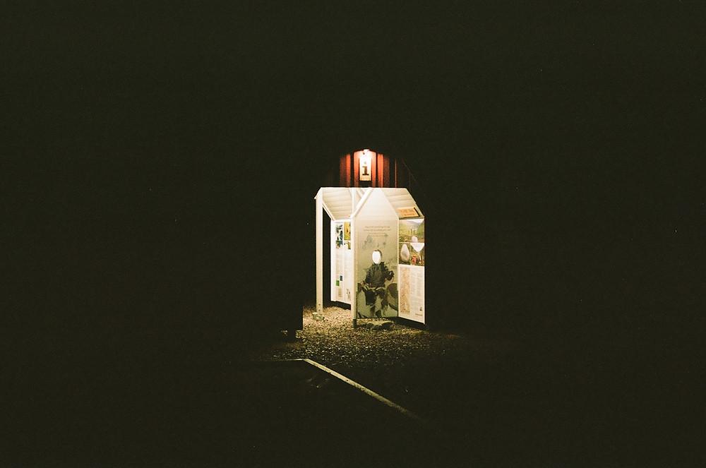 Witching hours in Nikkaluokta. Shot on Kodak Portra400.