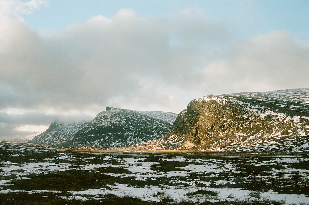 Morning, as the clouds peel away. Shot on Kodak Portra400.