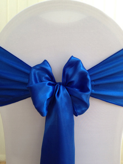 USED SATIN CHAIR SASHES - 10 PER PACK