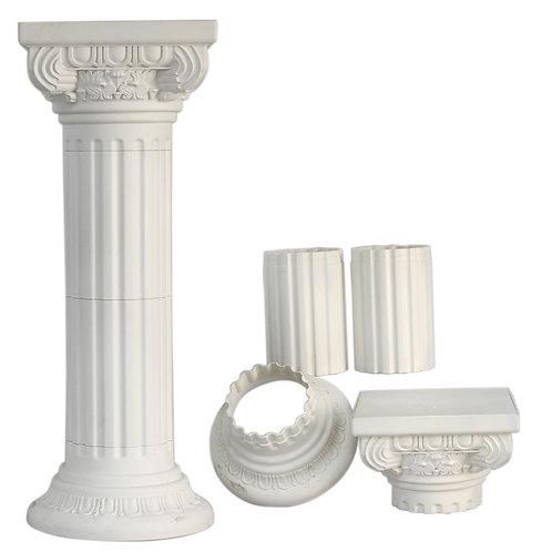 Roman Plastic Pillars Columns - Ivory