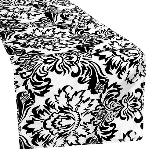 Damask Flocking Taffeta Table Runner - 2 per pk