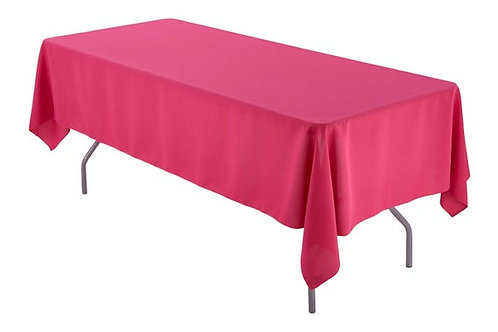 Polyester Rectangle Tablecloth - 60 x 102 - Fuschia