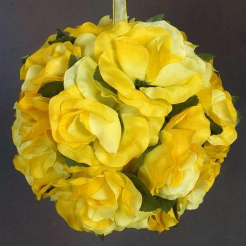 Pomander Rose Kissing Ball - Yellow