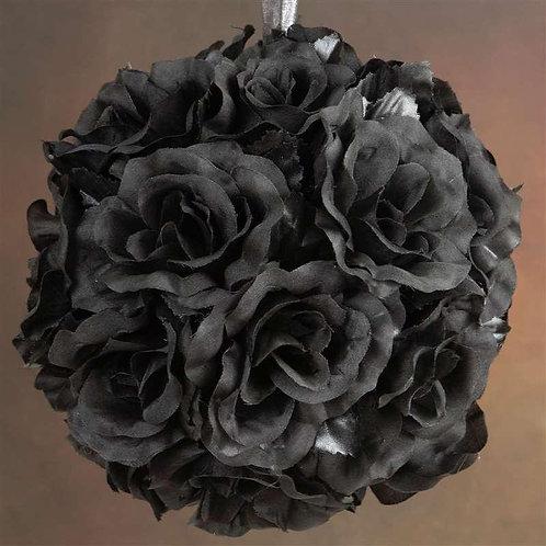 Pomander Rose Kissing Ball -Black