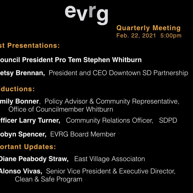 EVRG Community Meeting Monday 2.22.2021 5:00 p.m. ZOOM