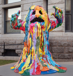 This Blob Monster was a part of the 2020 Sculpture Milwaukee exhibit.