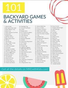 101 Backyard Games & Activities For Kids