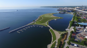 Lakeshore State Park is located right along Lake Michigan in downtown Milwaukee.