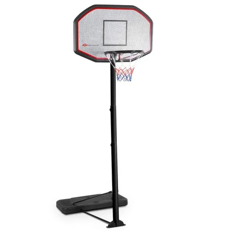 "43"" Indoor/Outdoor Height Adjustable Basketball Hoop on Overstock.com."