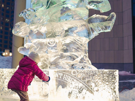Pop-Up Ice Sculptures Decorate Downtown Milwaukee