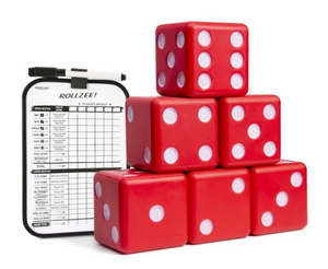 """GoSports Giant 3.5"""" Red Foam Playing Dice Set"""