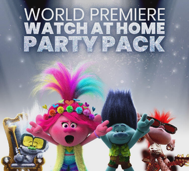 Trolls World Tour premieres today. Here's your Home Party Pack.