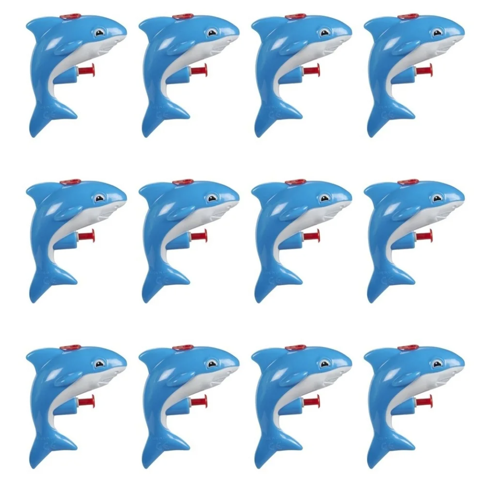 12-Pack Mini Animal Squirt Guns, Blue Shark Toys for Kids, Ages 6 and Up on Overstock.com
