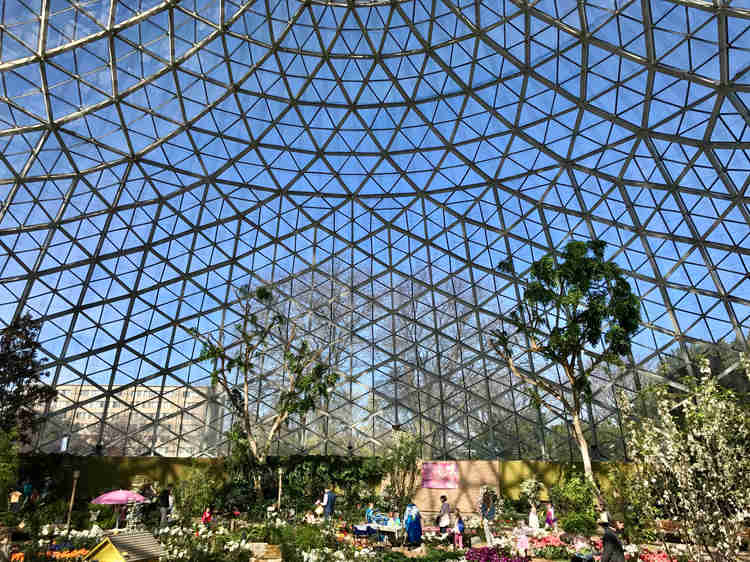 The Mitchell Park Domes are gorgeous all year round.