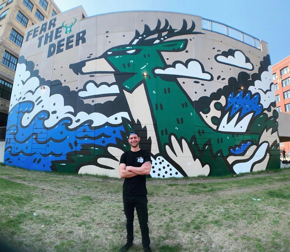 Fear the Deer Milwaukee Mural