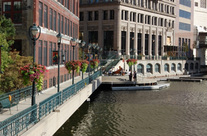 The Milwaukee Riverwalk is a great way to explore the city.