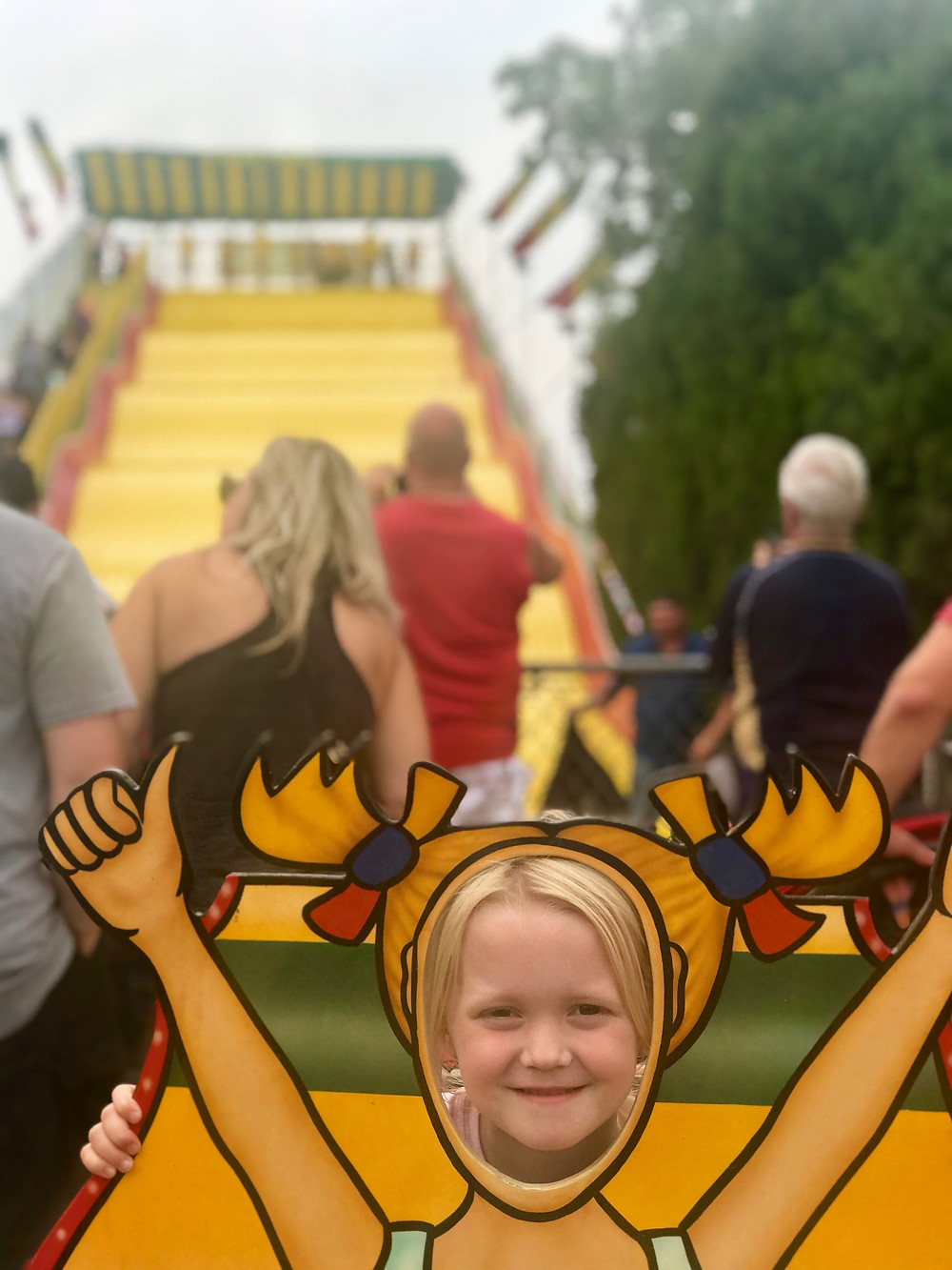 The big yellow slide at Wisconsin State Fair is the stuff childhood dreams are made of.