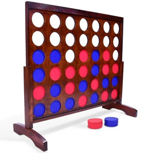 GoSports Giant Dark Wood Stain Four in a Row on Overstock.com