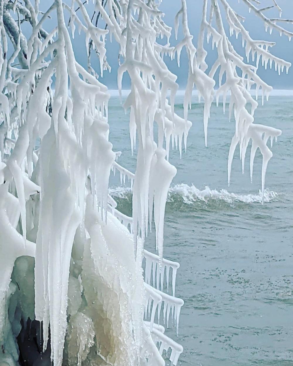 Bradford Beach Ice Formations