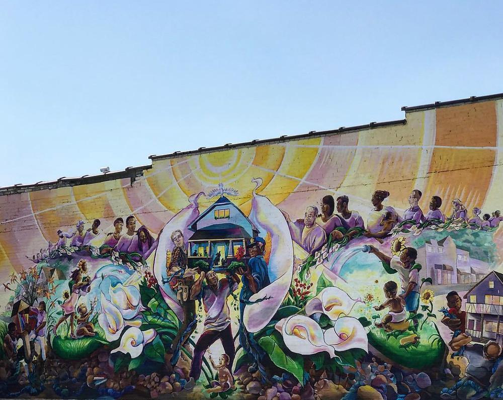 Sherman Park Rising Mural in Milwaukee
