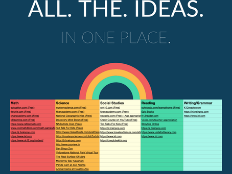 Overwhelmed by all the ideas? We put them in one place for you, by subject.