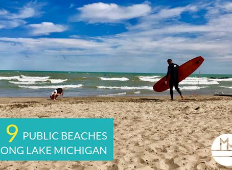 9 beaches along Lake Michigan